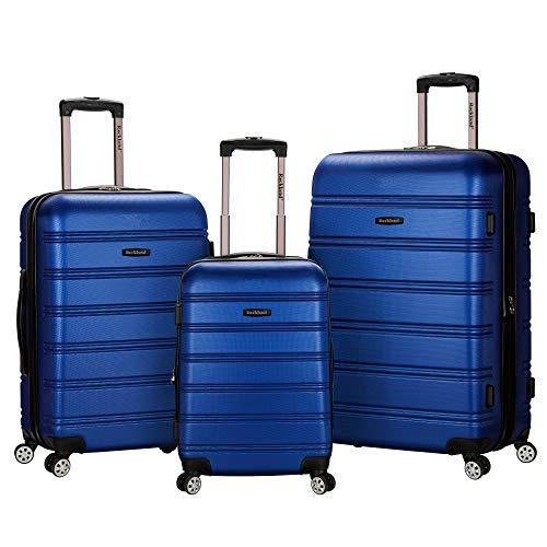 Rockland Melbourne 3 Pc Abs Luggage Set, Blue
